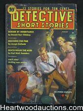 Detective Short Stories Aug 1937  #1 Oriental Menace Cover