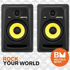 "2 x KRK Rokit 6 G3 Powered Active Monitor Speaker 100w Generation 3 6"" Pair - BM"