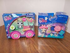 2 LITTLEST PET SHOP Pet Play Sets On the Go #1842 & Play & Display Pet Nook #471