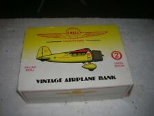 Shell Oil Diecast AIRPLANE BANK DIE CAST METAL NEW IN BOX 1992 LTD EDITION