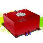 10 GALLON/38L LIGHTWEIGHT RED ALUMINUM GAS FUEL CELL TANK+SENDER 16.5X16.5X9