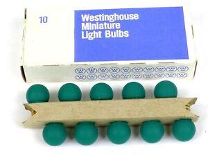 Westinghouse 432G American Flyer Marx Miniature Green Light Bulbs Box Of 10