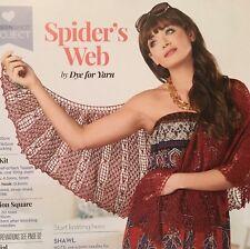KNITTING PATTERN Ladies Lace Shawl Spiders Web Design Wrap Accessory PATTERN