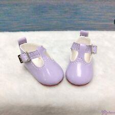 Yo SD BJD Doll Maryjane School Shoes Purple (for Foot 4.5cm long)