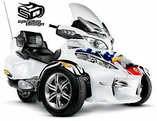 "Can Am Spyder RT RT-S RT Limited wrap decal kit ""The Patriot USA"" HOOD/FENDERS"