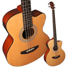Lindo ACB Series Spruce Top Electro Acoustic Bass Guitar with Preamp & Gigbag