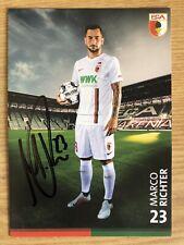 Marco Richter AK FC Augsburg Autogrammkarte 2018-19 original signiert