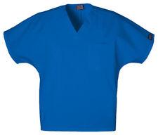 Royal Blue Cherokee Scrubs Workwear Unisex V Neck Tunic Top 4777 ROYW