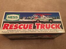 1994 HESS TOY TRUCK - RESCUE TRUCK - NEW IN BOX w/ OLD  GAS COUPON & RECEIPT