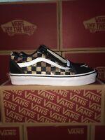 Vans Old Skool Checkerboard Desert Camo Size Kids 4 Skate shoes New