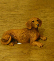 Castagna Mini Dog Figurines #372M RED DACHSHUND,  Made in Italy, NEW/Box 1.5x2.5