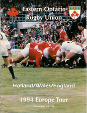 EASTERN ONTARIO, CANADA  - HOLLAND WALES 7 ENGLAND TOUR 1994 RUGBY BOOKLET