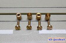 4 Schrauben und 4 Hülsen für die Flachanker Motor Befestigung