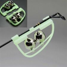 2pcs Night Fishing Accessory Rod Tip fish Bite Alarm Alert Clip Bells Ring Glow