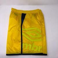 Umbro Men's Bright Yellow Soccer Shorts Athletic Sport Lightweight Small