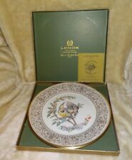 Lenox E.M. Boehm Meadowlark 1973 Bird Collector Plate- Box, Papers