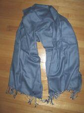 Solid Blue Fringe Scarf Wrap Shawl Classic Fashion