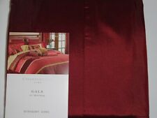 "NIP CHARTER CLUB GALA SATIN KING BEDSKIRT, TAILORED  16"" DROP GARNET RED, MAROON"