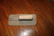 "MARSHALLTOWN COMPANY Trowel,Concrete Float/Stucco, 11"" x 4 3/4"" Used,wood handle"