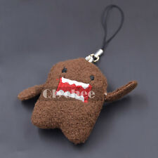 1 pc Ainme Domo Kun Plush Doll Toy Keychain Kids Cell Phone Strap 9.5cm Brown