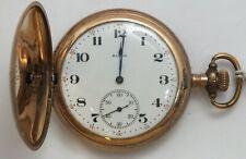 Elgin 12 Size Hunting Engraved Art Nouveau 15 Jewel 1918 Pocket Watch Runs LW129