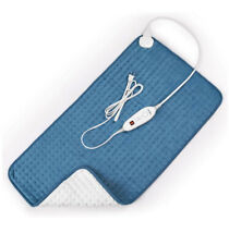 Electric Heating Pad Moist and Dry Heat Pad For Pain Relief Blue With Timer
