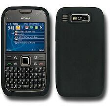 New Silicone Jellly Skin  Back Case Cover For Nokia E73 Mode Black