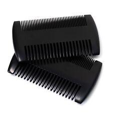 2 x Premium Bartkamm Taschenkamm Kamm schwarz Sandelholz, zwei Stärken