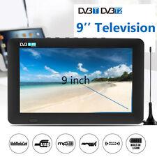Portable 9'' TFT LED DVB-T/DVB-T2 16:9 HD Analog TV Digital Television 12V Car