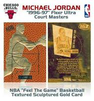 MICHAEL JORDAN 1996-97 Fleer Ultra COURT MASTERS Feel the Game 23KT Gold Card