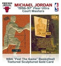 MICHAEL JORDAN 1996-97 Fleer Ultra COURT MASTERS Feel the Game 23KT Gold Card
