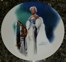 Marilyn Monroe 1992 Collector Plate, All About Eve, Delphi, Numbered, Coa, Euc