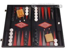 Argento Wood Backgammon Set - Black Field - Large Wooden Board