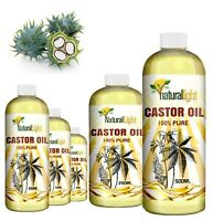 Organic Castor Oil 100% Cold Pressed Undiluted, Certified, Premium Quality
