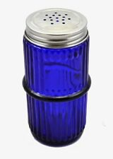 Blue Mission Style Glass Spice Jar with Lid - Hoosier, Sellers cabinet antiqu...