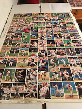 1995 Topps Stadium Club Baseball Members Only Uncut Sheet 27x40 Griffey, Boggs +