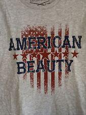 grunt style woman's American Beauty xl t-shirt Veteran Patriot Grey Gs