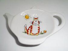 BN Ceramic Cute Cat Tea Bag Rest Holder, Cat Tea Bag Rest, Cat Gift Teabag Tidy