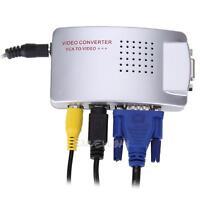 Computer Laptop PC VGA to TV AV RCA S-Video RGB Converter Adapter Box Composite