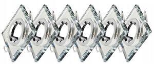 Einbaustrahler Set Glas GU10 Einbau-Leuchte Deckenstrahler Rahmen Spots 230V Q