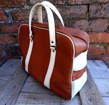 Small Vintage Tog Tote Flight Train Bag Handbag Case Mid Century Two Tone Retro
