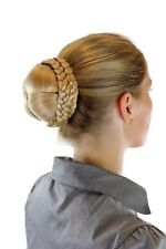 Haarteil aufwendig geflochten Zopf Dutt Haarknoten Tracht Blond N796-LG26