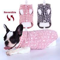 French Bulldog Clothes Dog Coats Winter Warm Jackets Vest Reversible Chihuahua