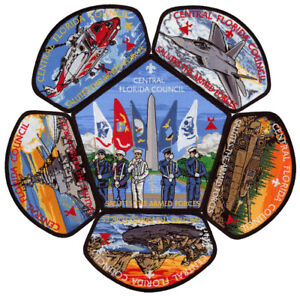 Central Florida Council Military Tipisa OA Lodge 326 CSP Patch Set Lot Jamboree