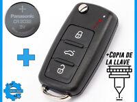 LLAVE SE ADAPTA A VW GOLF UP POLO T5 CADDY TIGUAN + CR2032 + COPIA DE LA LLAVE