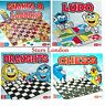 Snakes and ladder, Ludo, Draught & Chess Traditional Children & family toy games