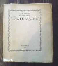 """Paul Valéry, """"Tante Berthe"""""""
