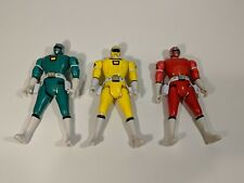 Power Rangers Green Yellow & Red Power Rangers Flip Head Bandai 1997