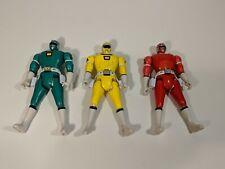Power Rangers Green Yellow & Red Power Rangers Flip Head Bandai 1997