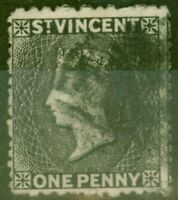 St Vincent 1872 1d Black SG18 Fine Used
